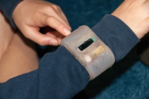 Amulet Computational Jewelry for Healthcare: A wristband that securely manages one's health and wellness devices, including those that can measure physical activity and monitor overall body health.
