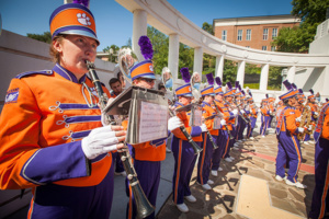 "Clemson University President James Clements, accompanied by the Tiger Band, will speak at ""Eclipse Over Clemson."""