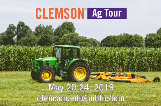 The public will be able to follow the Clemson Ag Tour on social media will May 20-24.