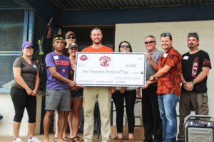 Members of the Upstate Veterans Alliance presented a check for $2,000 to support the scholarship endowment for Clemson student veterans.