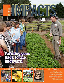 Clemson Impacts Magazine cover Fall 2014
