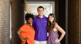 2017-18 student government leaders at Clemson (L-R): Courtney Allen, Leland Dunwoodie, Killian McDonald