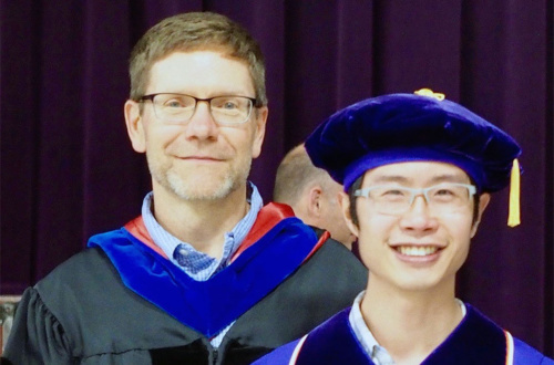 Professor Jim Morris (left) and Yijian Qiu recently published a paper in the journal mSphere.