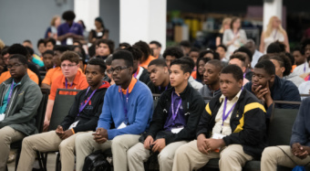 Students at the 2018 Men of Color National Summit