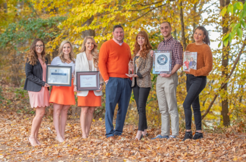 Members of Clemson's Talent Acquisition Team (left to right): Kelsey Crawford, Mary Collins Boyles, Danielle Arrington, Josh Brown, Hannah Elgin, Will Pope and Briana Quinn.