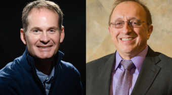 John Ballato, left, and Marek Urban were elected fellows of the American Association for the Advancement of Science.